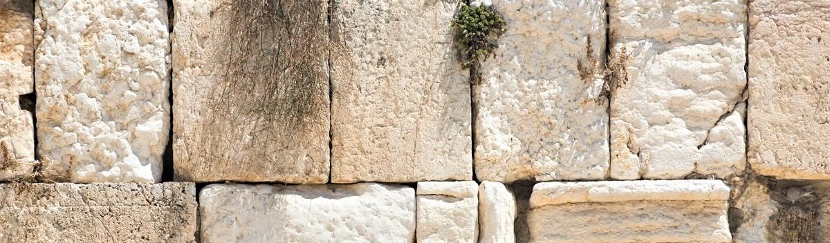 הכותל המערבי - אבן ירושלמית